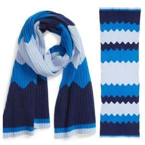 100% Cashmere Scarf (blue)